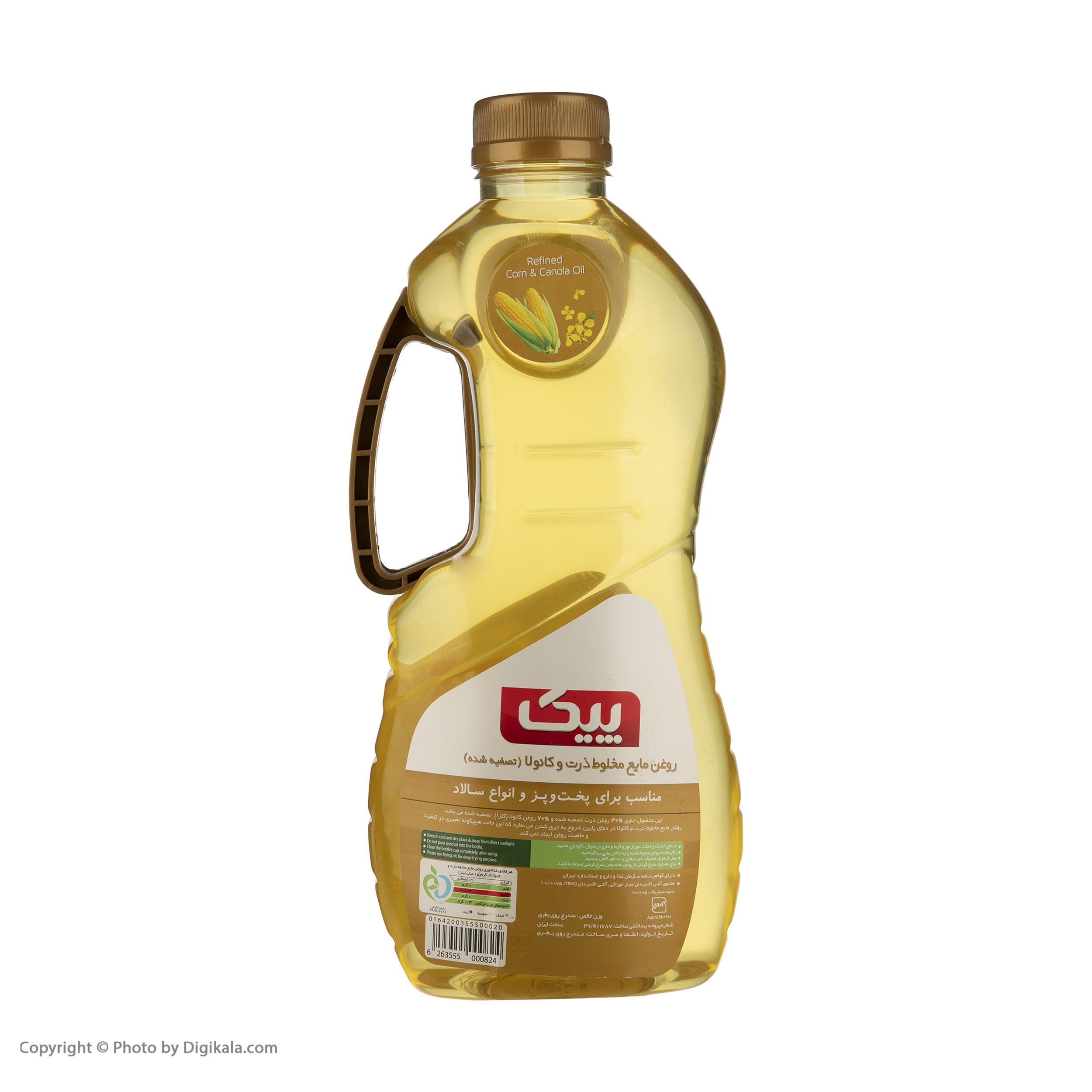 روغن ذرت و کانولا پیک - 1.8 لیتر