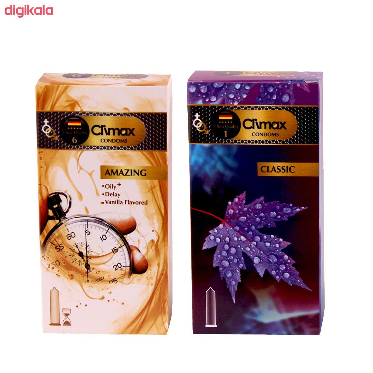 کاندوم کلایمکس مدل classic بسته 12 عددی به همراه کاندوم مدل amazing بسته 12 عددی main 1 1