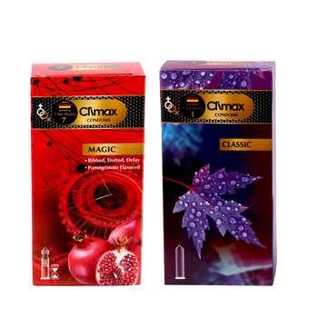 کاندوم کلایمکس مدل classic بسته 12 عددی به همراه کاندوم مدل magic بسته 12 عددی