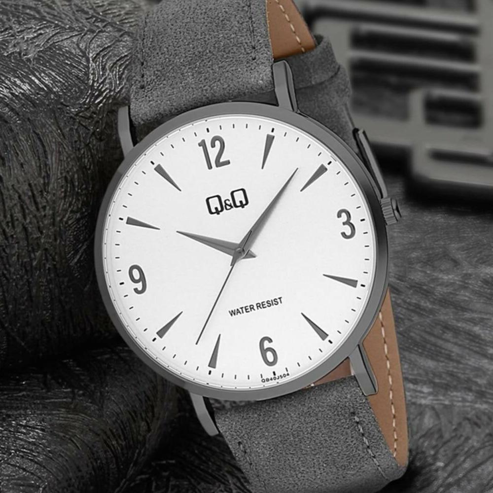 ساعت مچی عقربه ای مردانه کیو اند کیو مدل QB40J504Y
