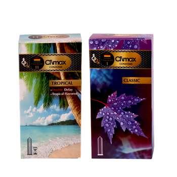 کاندوم کلایمکس مدل classic بسته 12 عددی به همراه کاندوم مدل tropical بسته  12 عددی