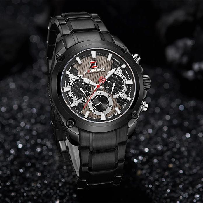 ساعت خرید اینترنتی ساعتمردانه نیوی فورس مدل NF9113M -B-B-B