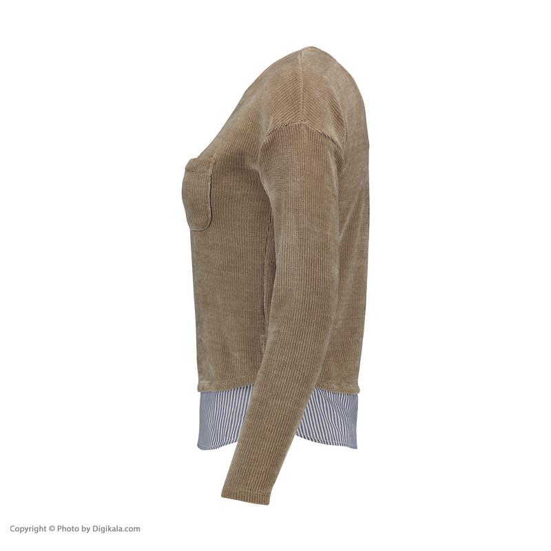 پلیور زنانه اسپرینگ فیلد مدل 0074519-BEIGE/CAMEL