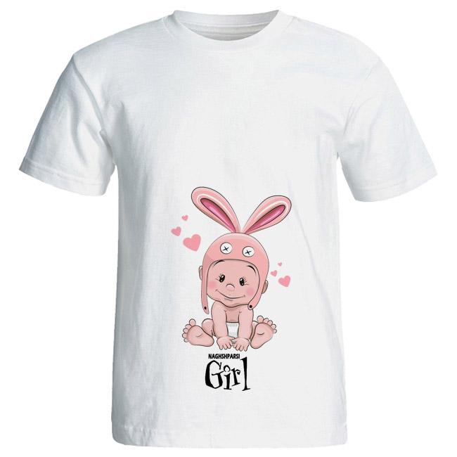 تی شرت بارداری طرح Girl کد 3987