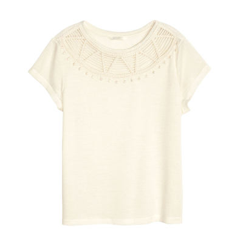 تصویر تی شرت زنانه اچ اند ام کد H&M 0371613008
