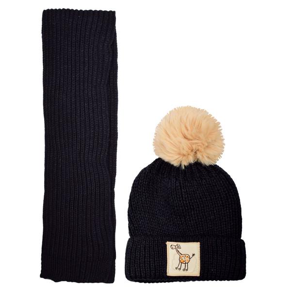 ست کلاه و شال گردن بافتنی مدل N1-0814