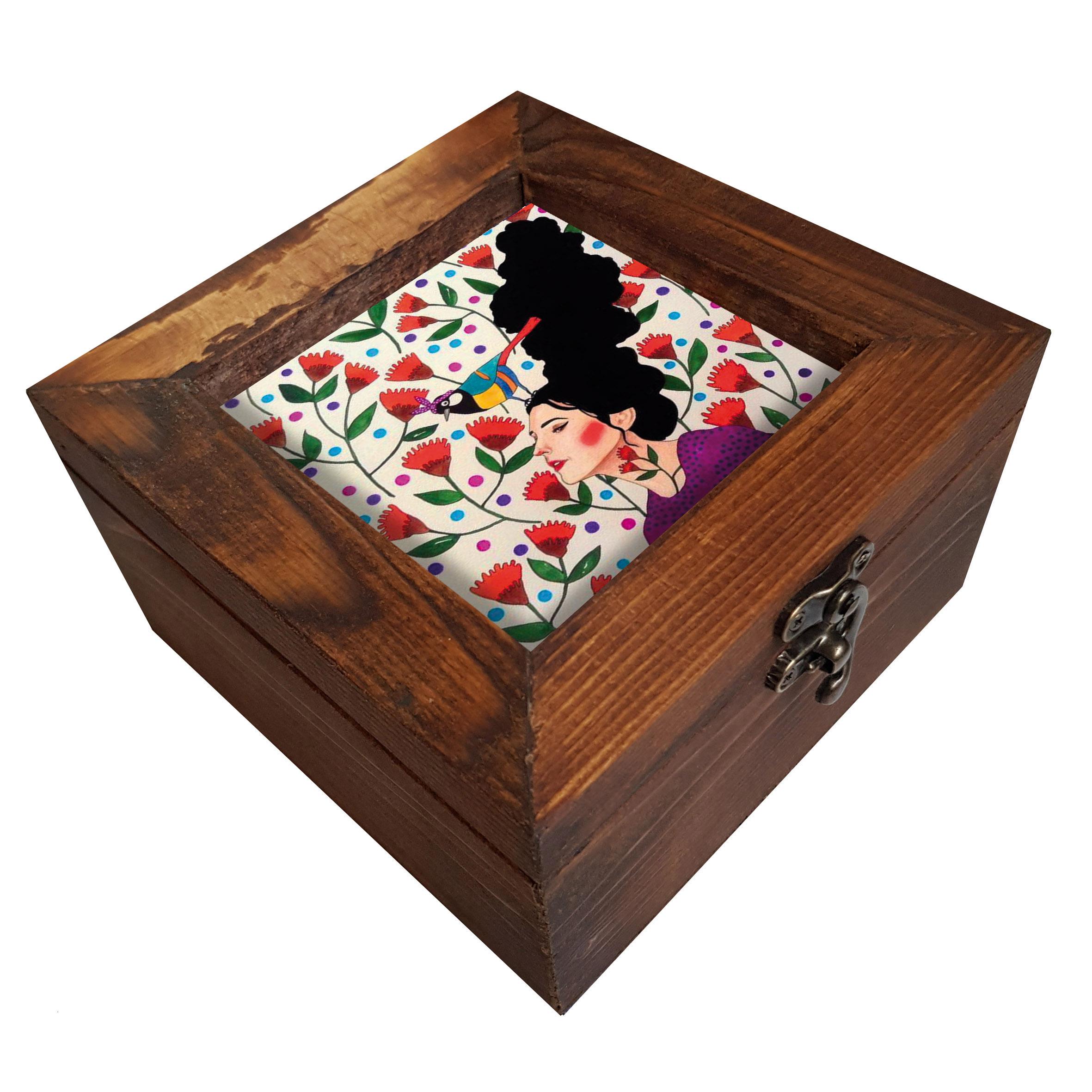 خرید                        جعبه هدیه چوبی کد A62