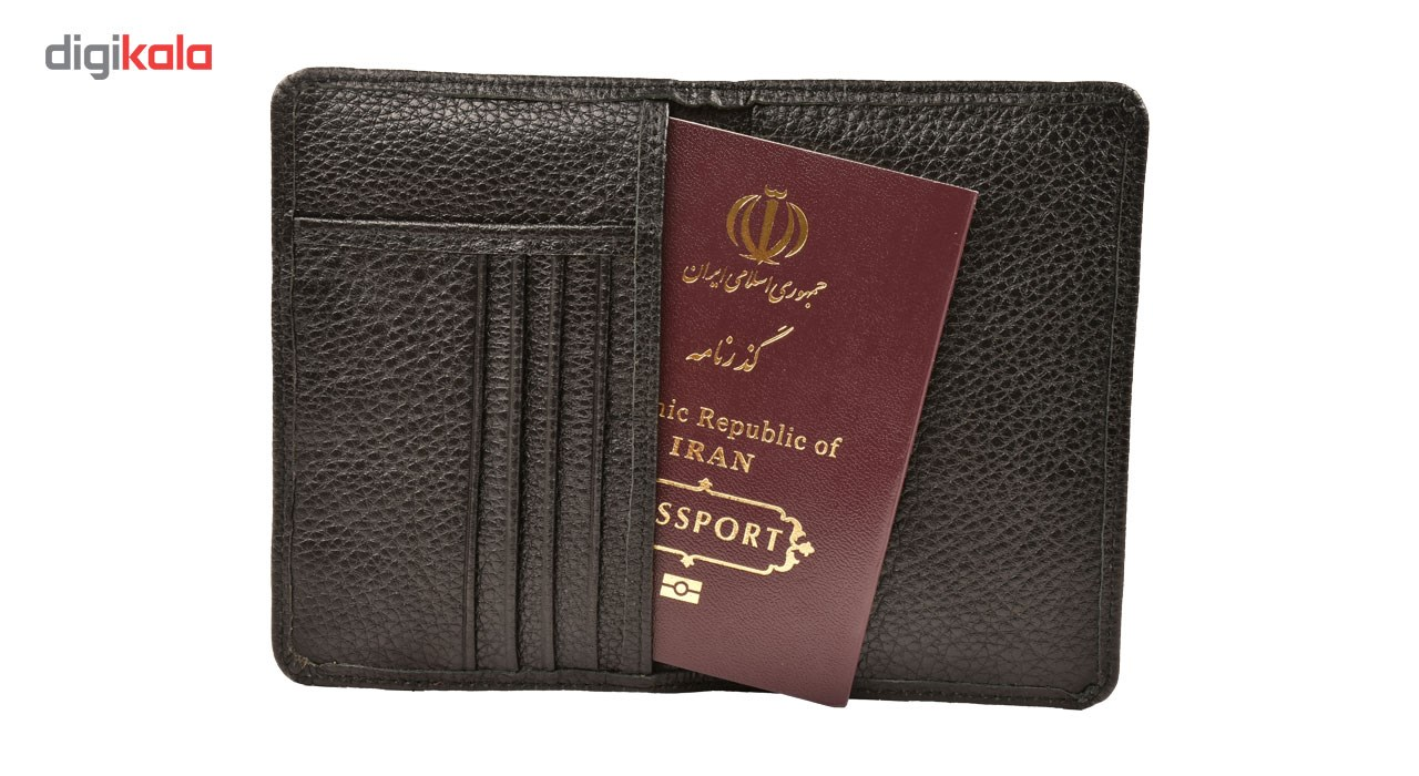کیف پاسپورت و  مدارک کهن چرم مدل PS30