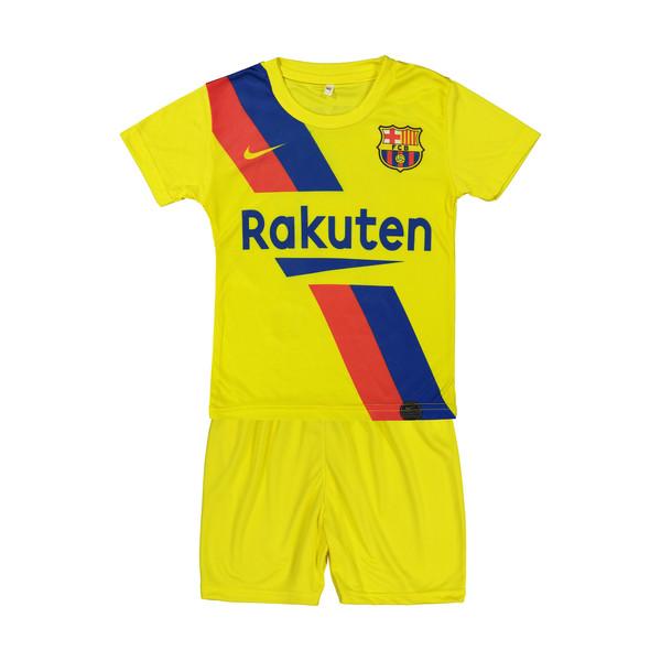 ست پیراهن و شورت پسرانه طرح بارسلونا مدل گریزمن کد p.sh.006