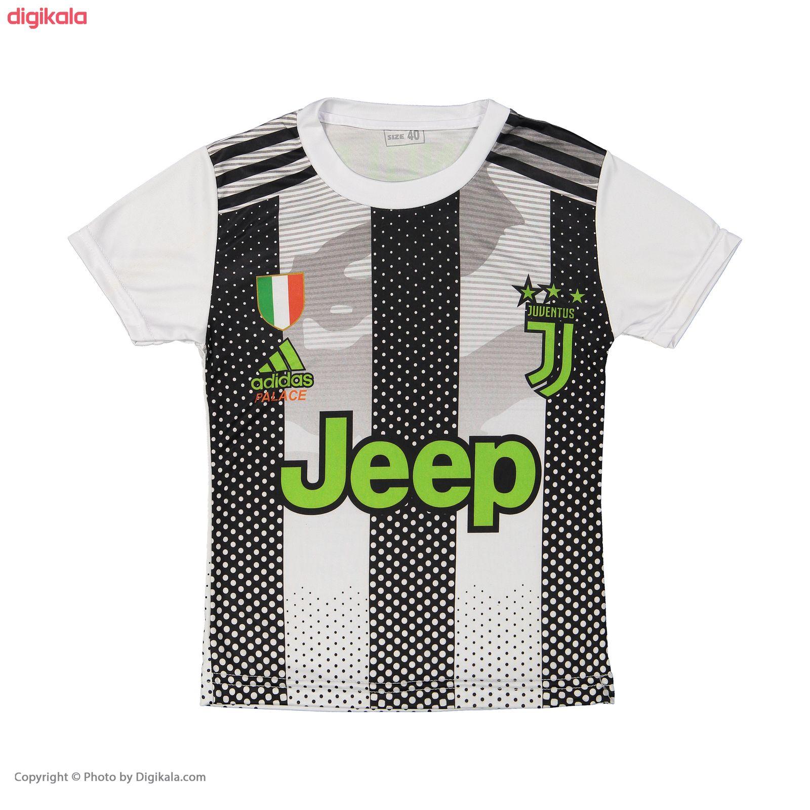 ست پیراهن و شورت ورزشی پسرانه طرح یوونتوس مدل رونالدو کد p.sh.007 main 1 1