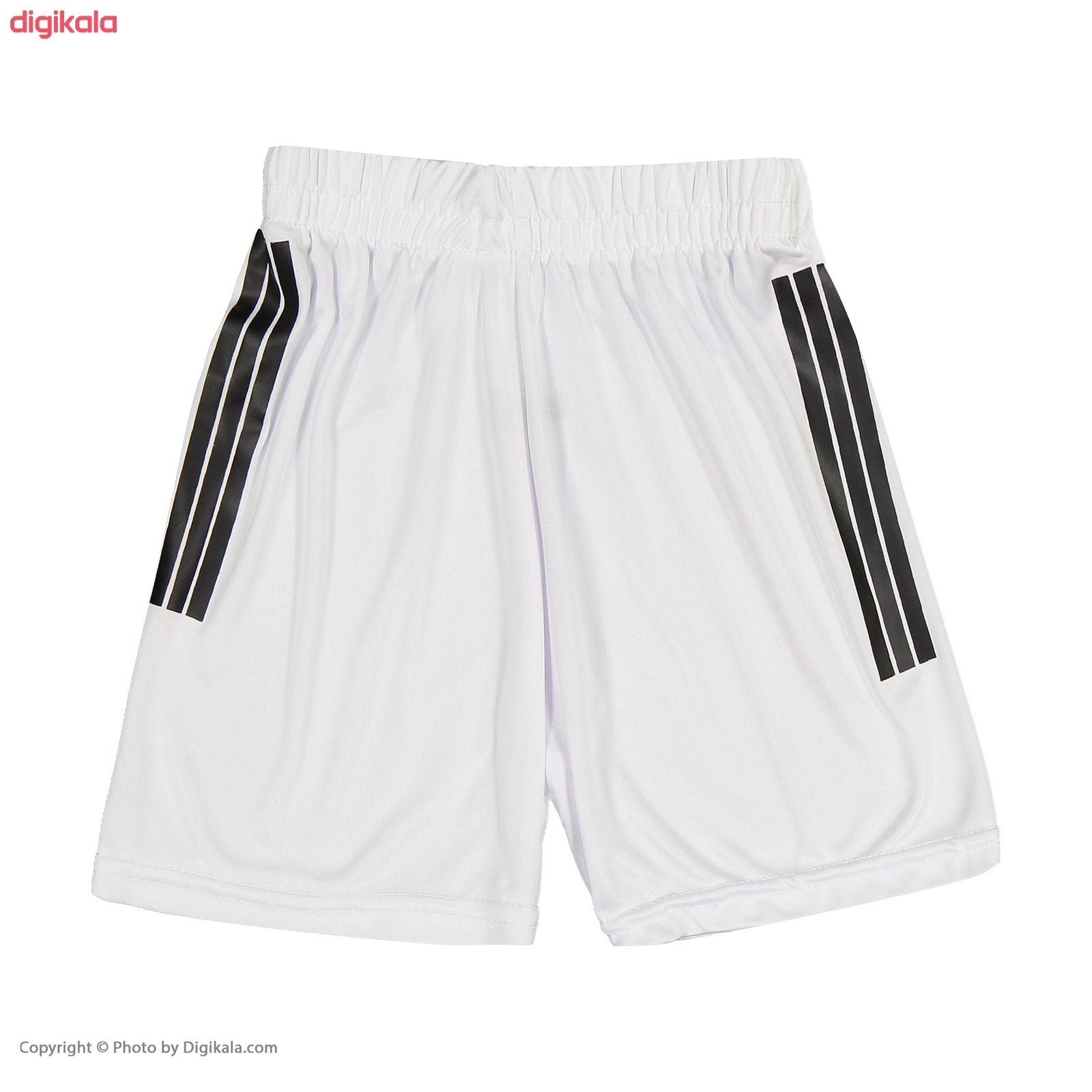 ست پیراهن و شورت ورزشی پسرانه طرح یوونتوس مدل رونالدو کد p.sh.007 main 1 5