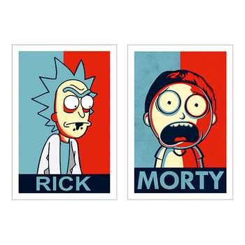 استیکر لپ تاپ  طرح Rick&Morty کد 02 مجموعه 2 عددی