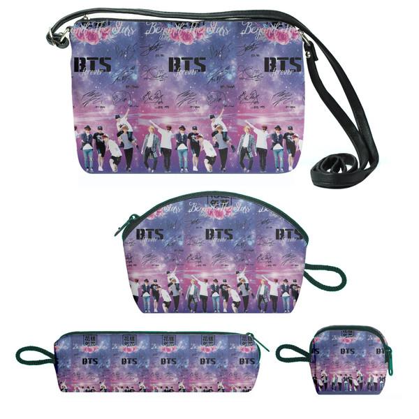 کیف دخترانه طرح bts مجموعه 4 عددی