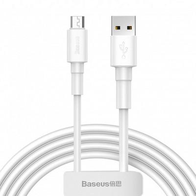 تصویر کابل تبدیل USB به microUSB باسئوس مدل CAMSW طول 1 متر