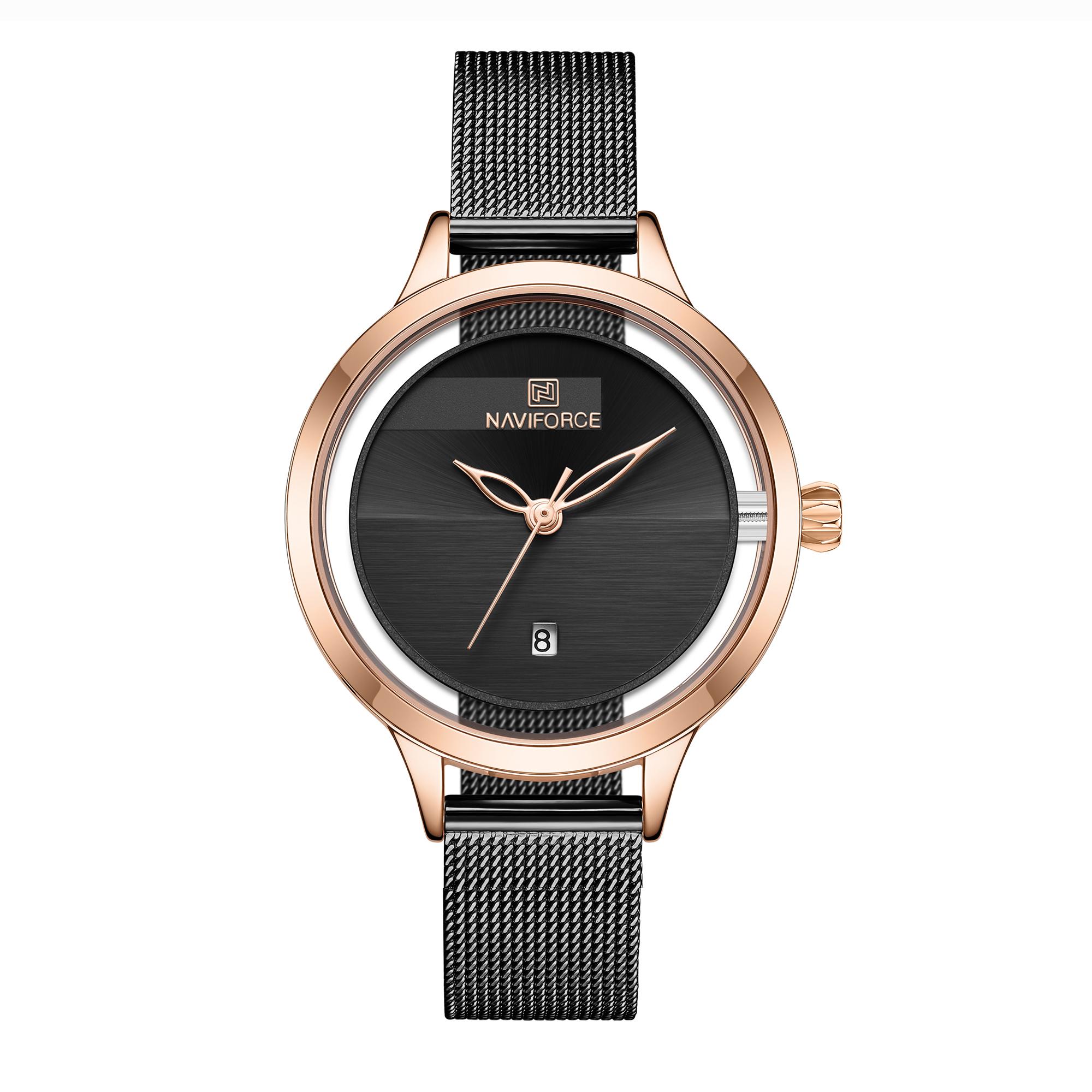 ساعت مچی عقربه ای زنانه نیوی فورس مدل NF5014 RGB              خرید (⭐️⭐️⭐️)