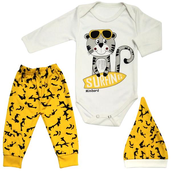 ست 3 تکه لباس نوزاد طرح Minibord کد M183