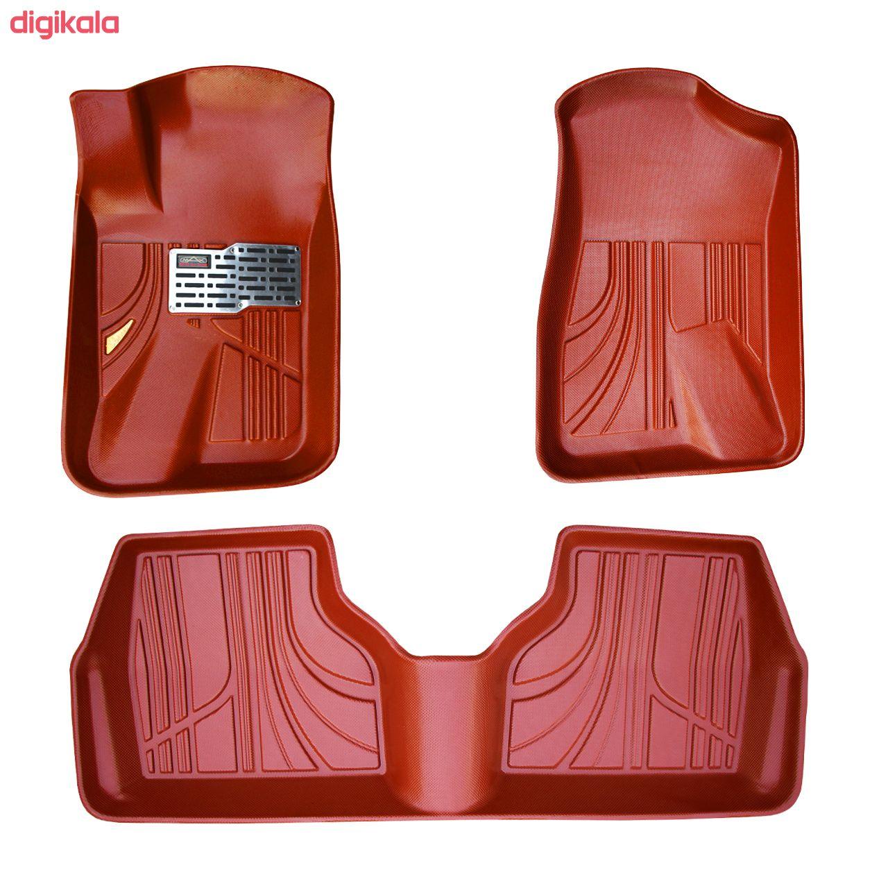 کفپوش سه بعدی خودرو مکس مدل K009 مناسب برای سمند main 1 4