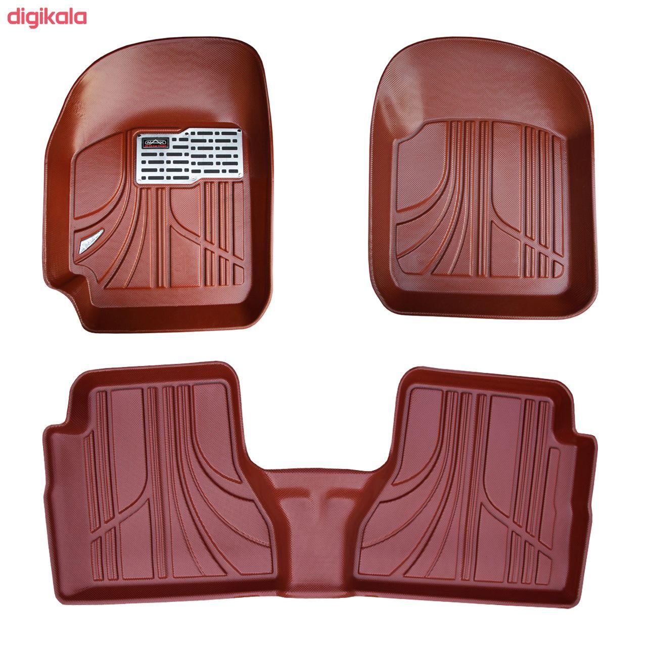 کفپوش سه بعدی خودرو مکس مدل K001 مناسب برای پراید صبا main 1 2