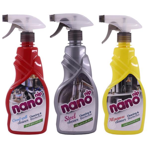اسپری تمیز کننده سطوح نانو نیپ مدل 01مجموعه 3 عددی