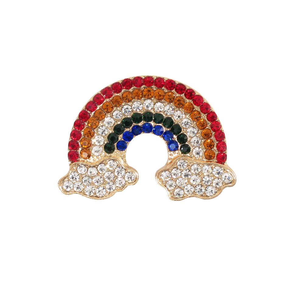 سنجاق سینه زنانه طرح رنگین کمان کد brfp-168