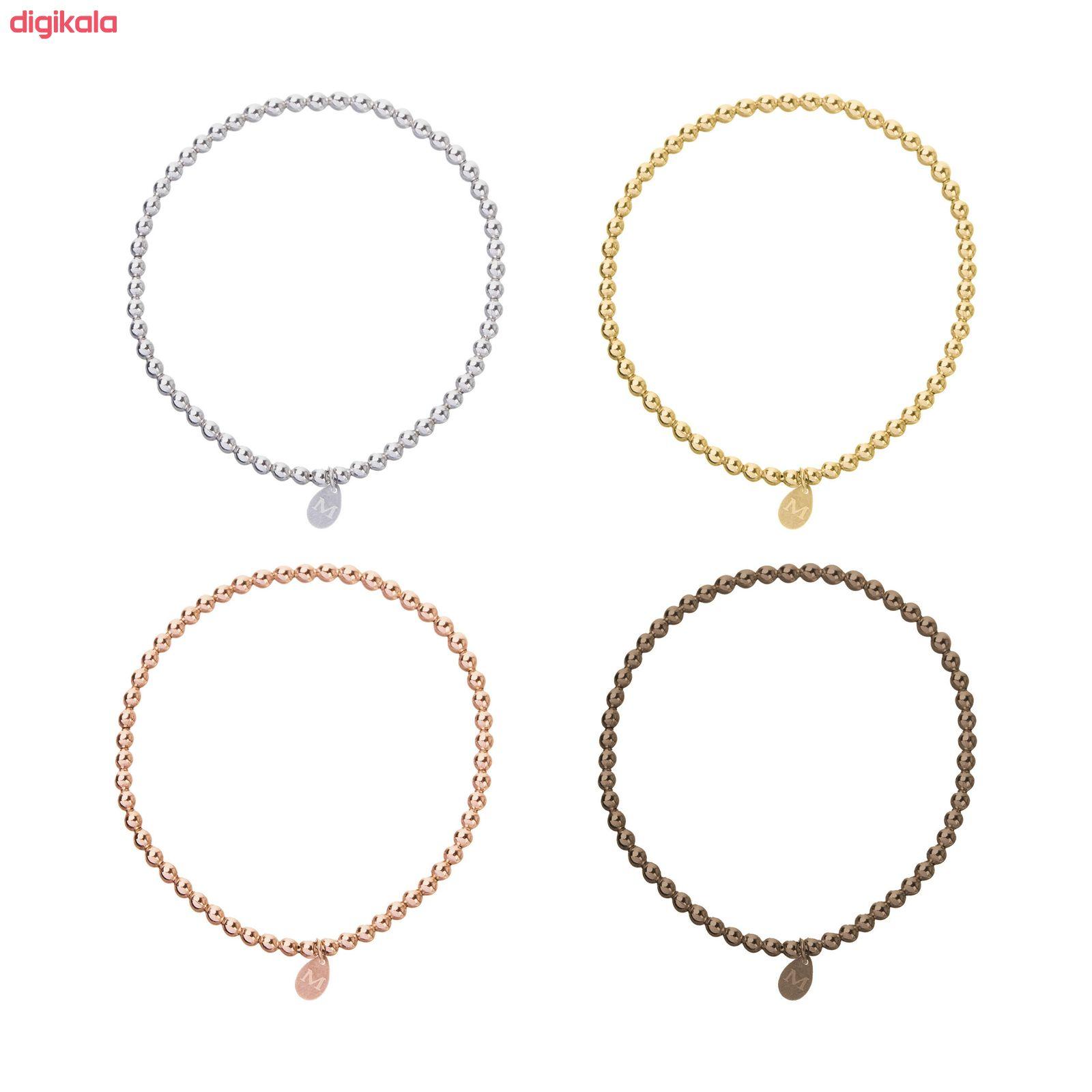 دستبند نقره زنانه کد SL-01 مجموعه 4 عددی