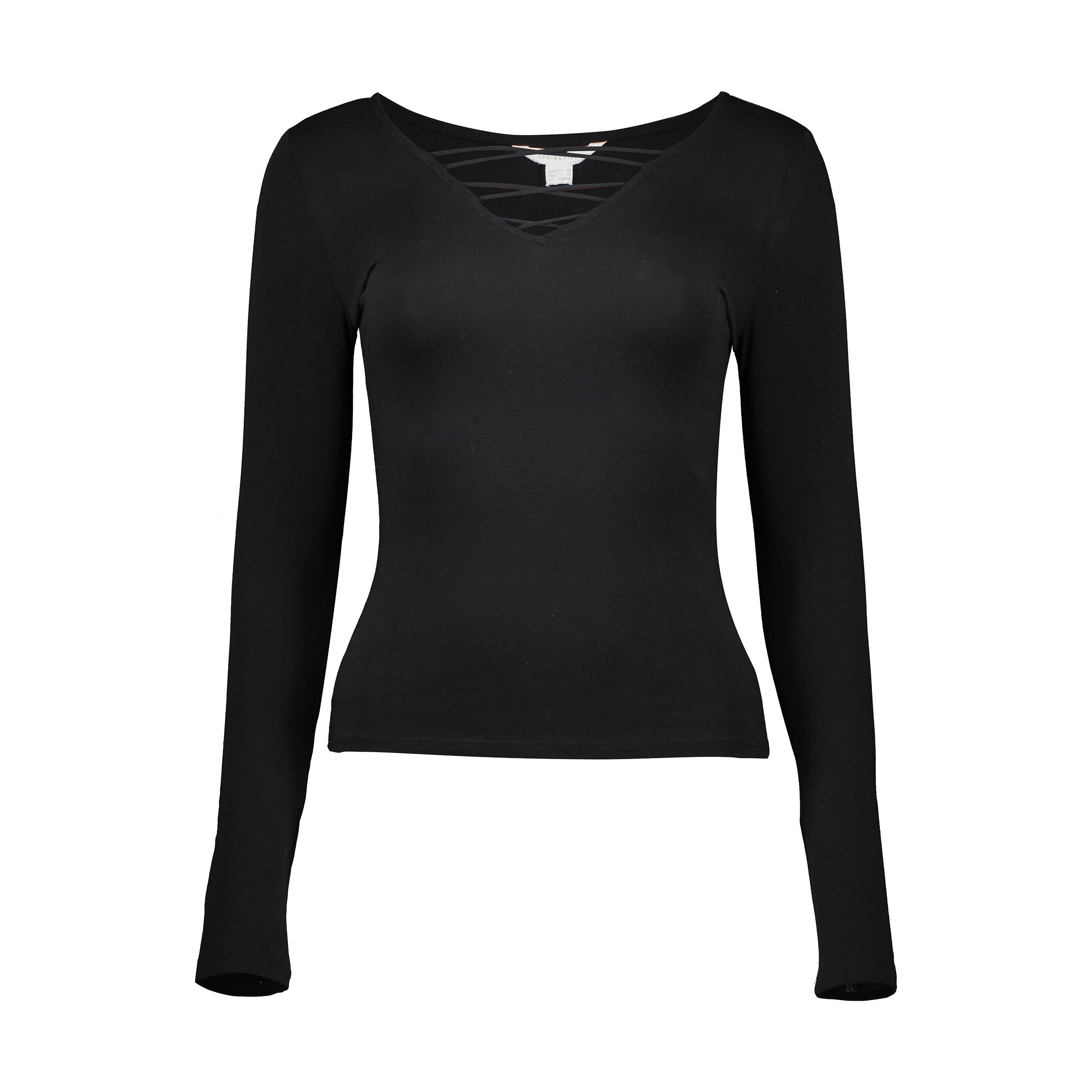 تی شرت زنانه اسپرینگ فیلد مدل 0074535-BLACK