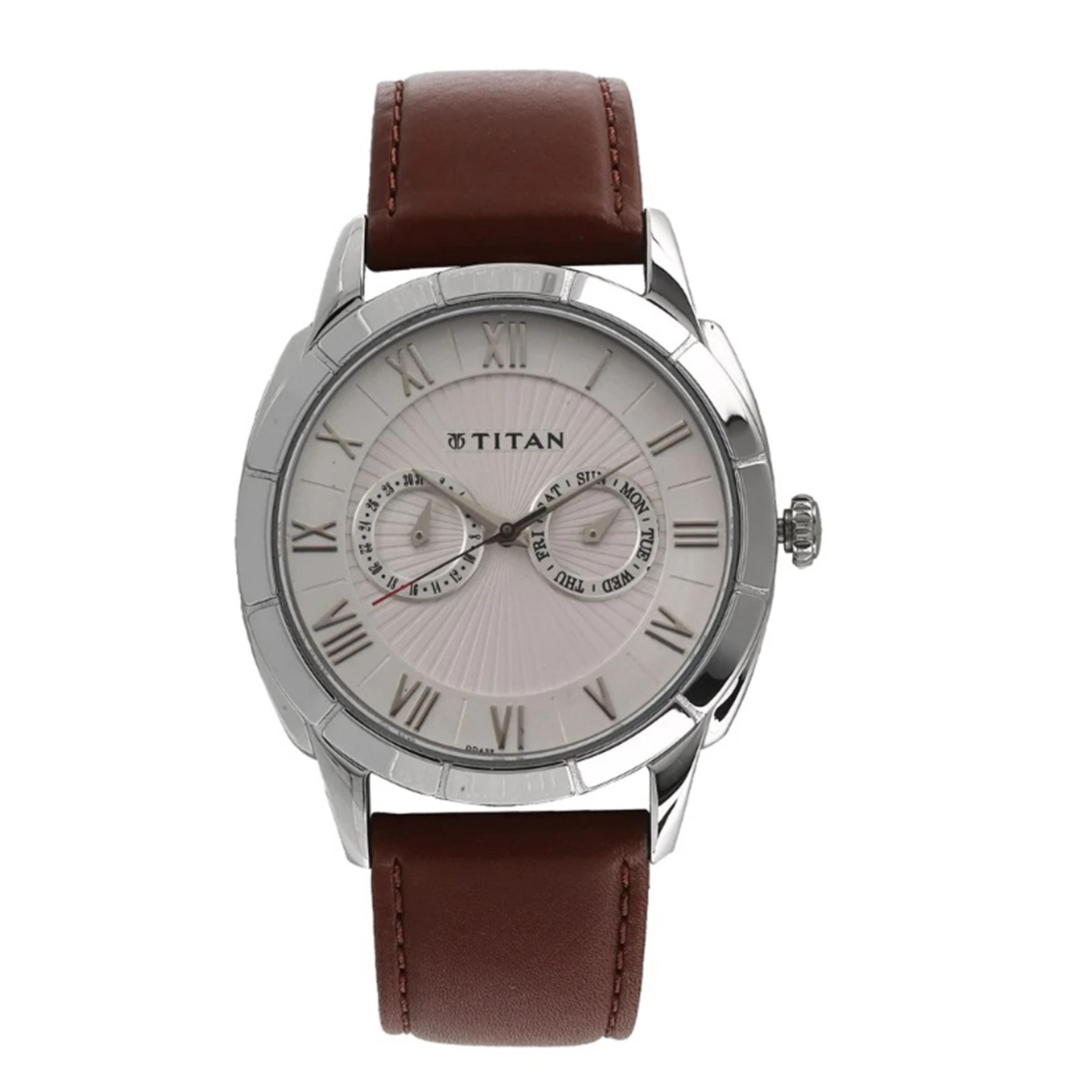 ساعت مچی عقربه ای مردانه تیتان مدل T1489SL02