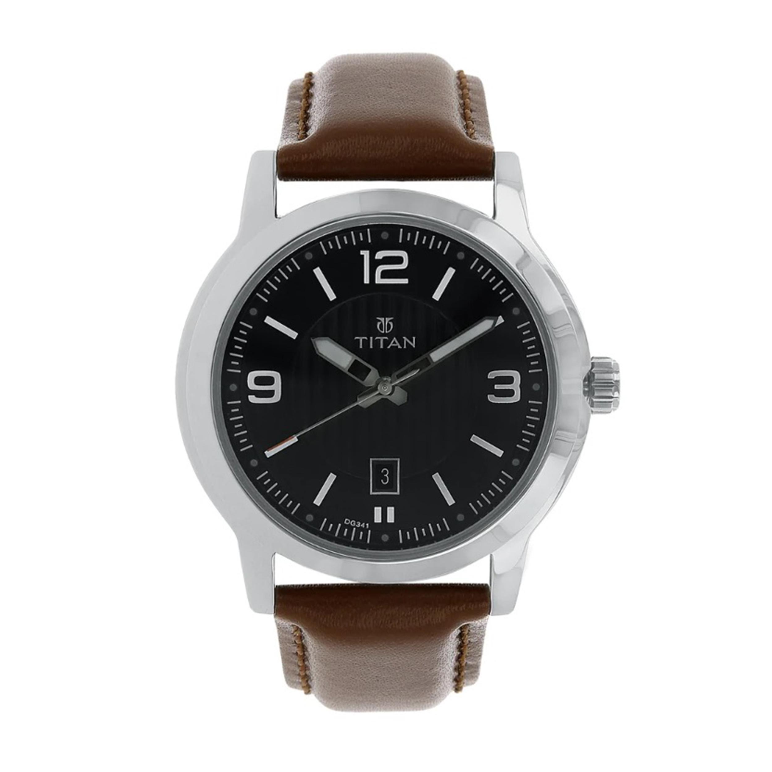 ساعت مچی عقربه ای مردانه تیتان مدل T1730SL02