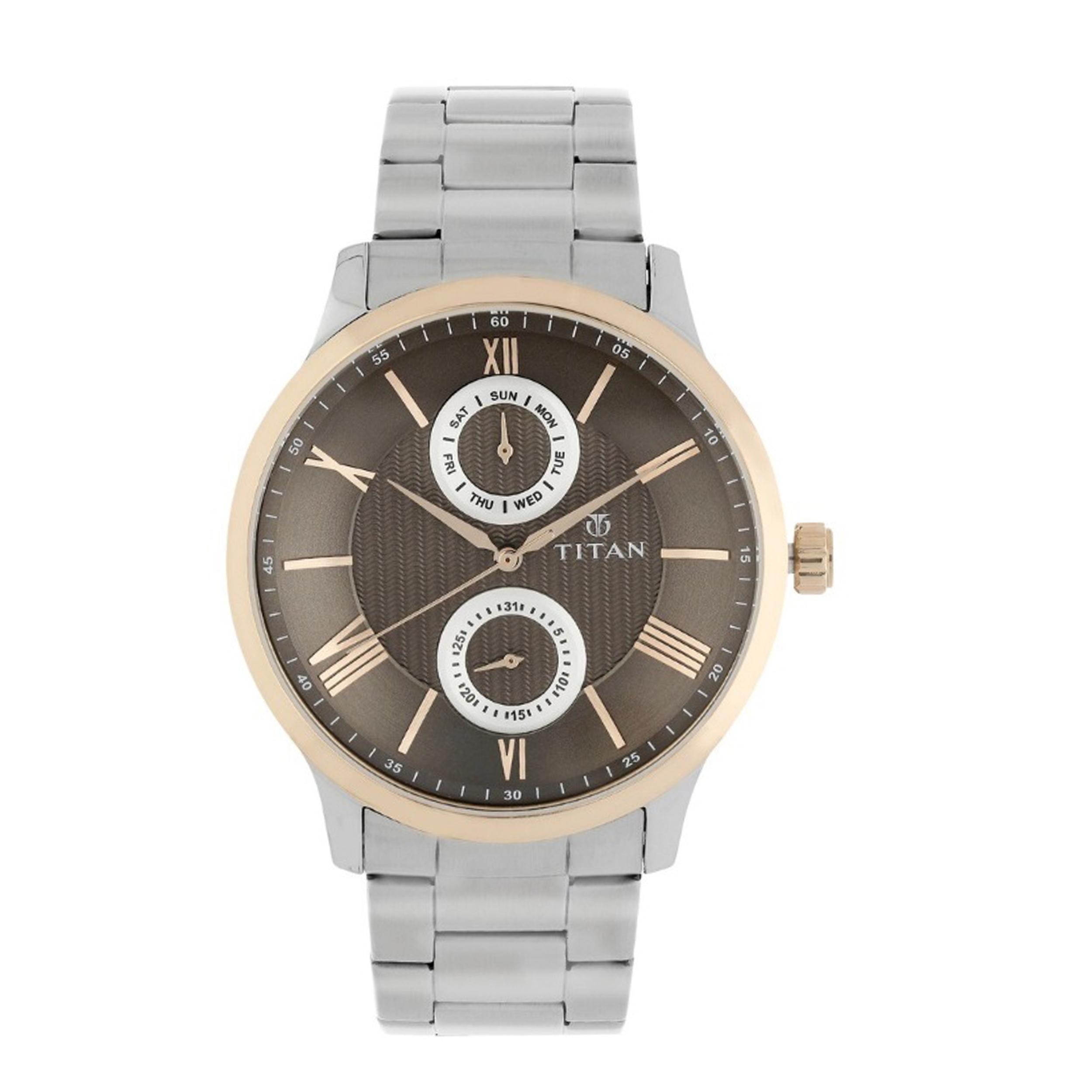 ساعت مچی عقربه ای مردانه تیتان مدل T90100KM01