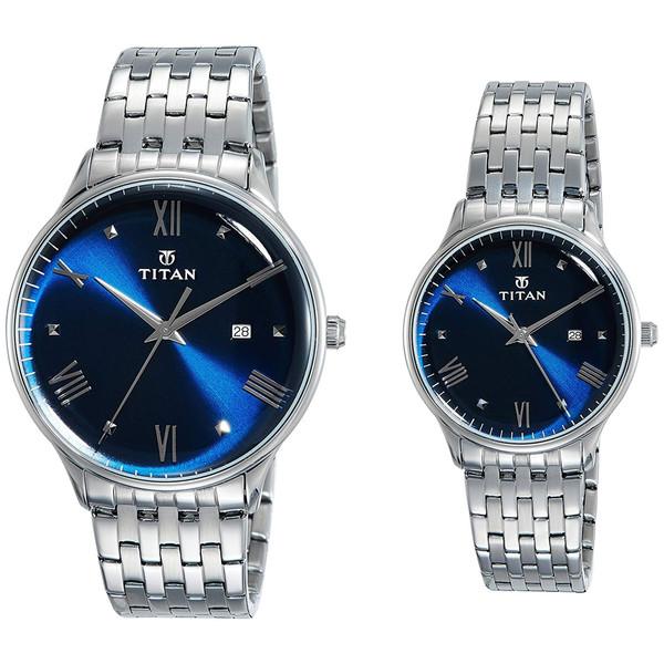 ست ساعت مچی عقربه ای زنانه و مردانه تایتن مدل T9400194201SM01