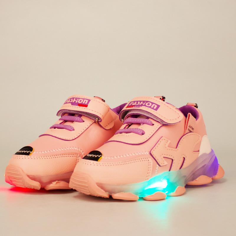 کفش راحتی چراغدار دخترانه مدل s25