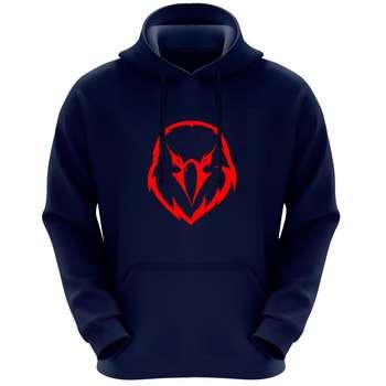 هودی مردانه طرح عقاب کد FG495 رنگ سرمه ای