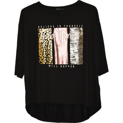 تصویر تی شرت زنانه ال سی وایکیکی مدل WB066