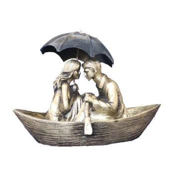 مجسمه دکوری طرح قایق عاشقانه کد 1617