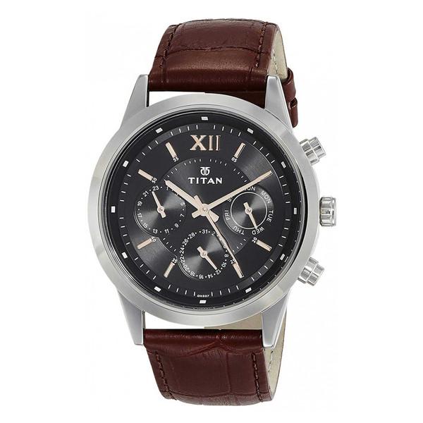 ساعت مچی عقربه ای مردانه تایتن مدل T1766SL02