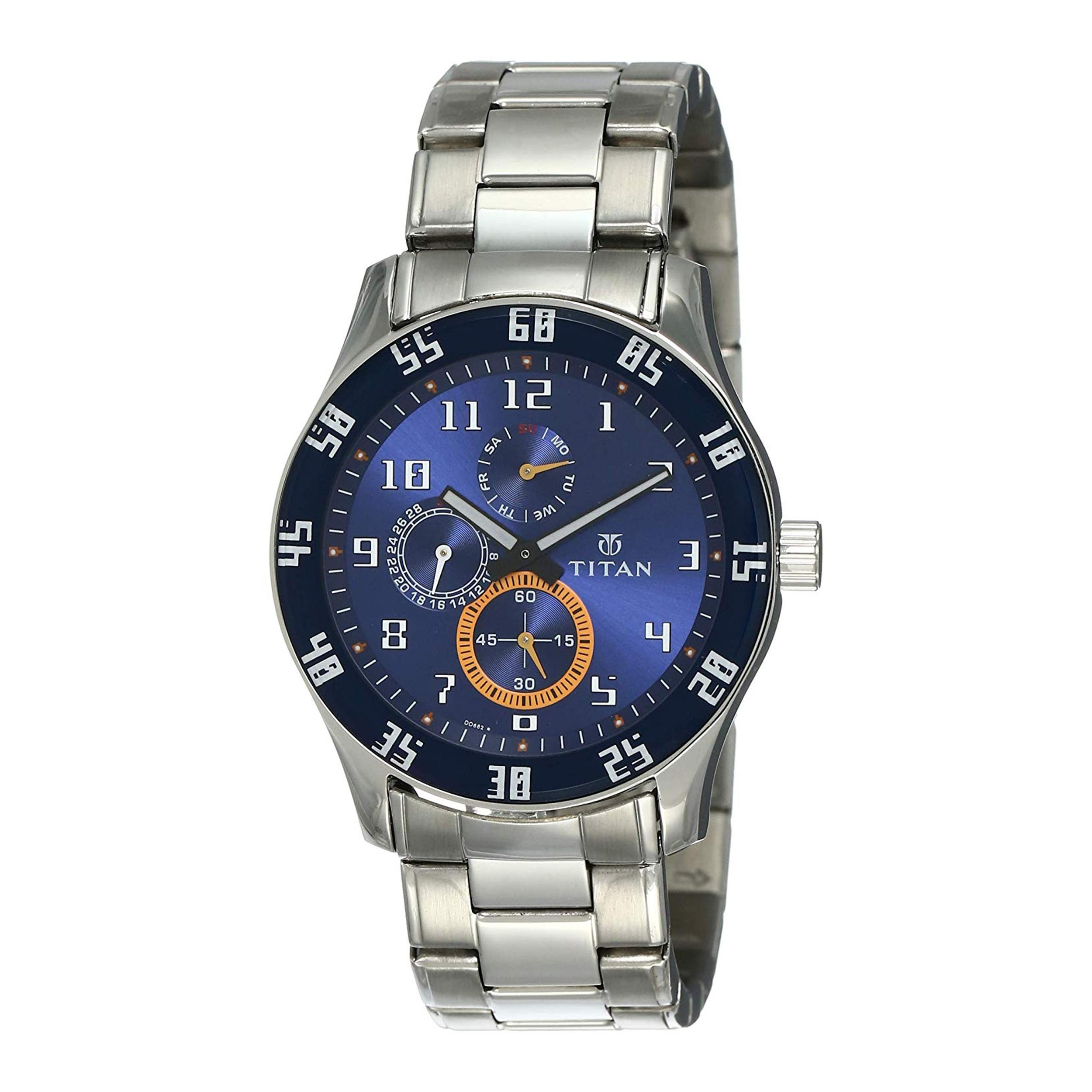 ساعت مچی عقربه ای مردانه تیتان مدل T1632SM03