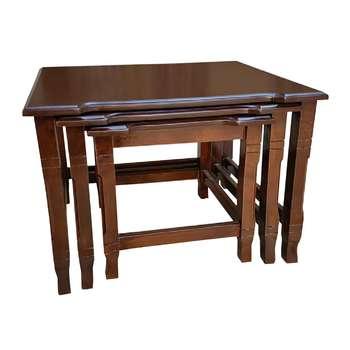 میز عسلی مدل 05 royll کد t315مجموعه سه عددی