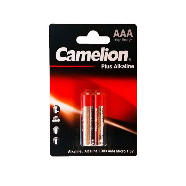 باتری نیم قلمی کملیون مدل Plus Alkaline کد 021 بسته 2 عددی