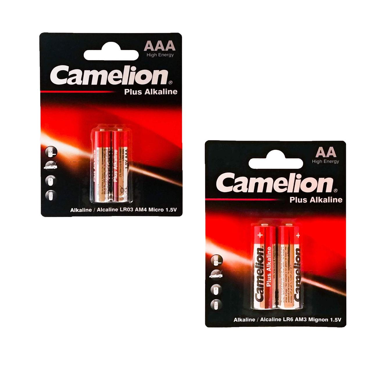 باتری قلم و نیم قلمی کملیون مدل Plus Alkaline کد 025 بسته 4 عددی