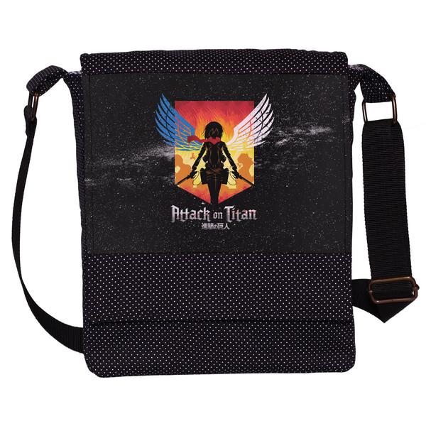 کیف دوشی دخترانه چی چاپ طرح Attack On Titan کد 65665