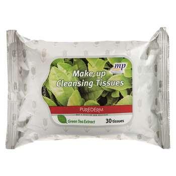 دستمال مرطوب پاک کننده آرایش پیوردرم مدل Green Tea Extract - بسته 30 عددی