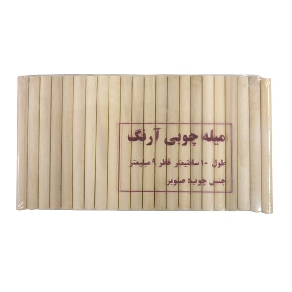 میله چوبی آرنگ مدل MIL_S_1009_50 بسته 50 عددی