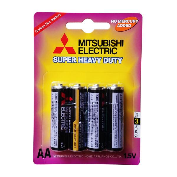 باتری قلمی میتسوبیشی الکتریک مدل Super Heavy Duty بسته 4 عددی