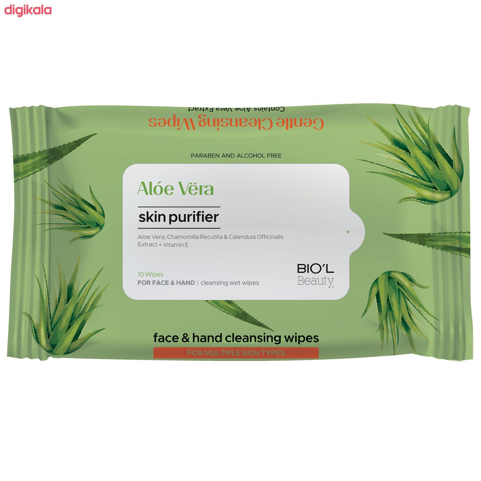 دستمال مرطوب بیول مدل Aloe Vera بسته 10 عددی main 1 1