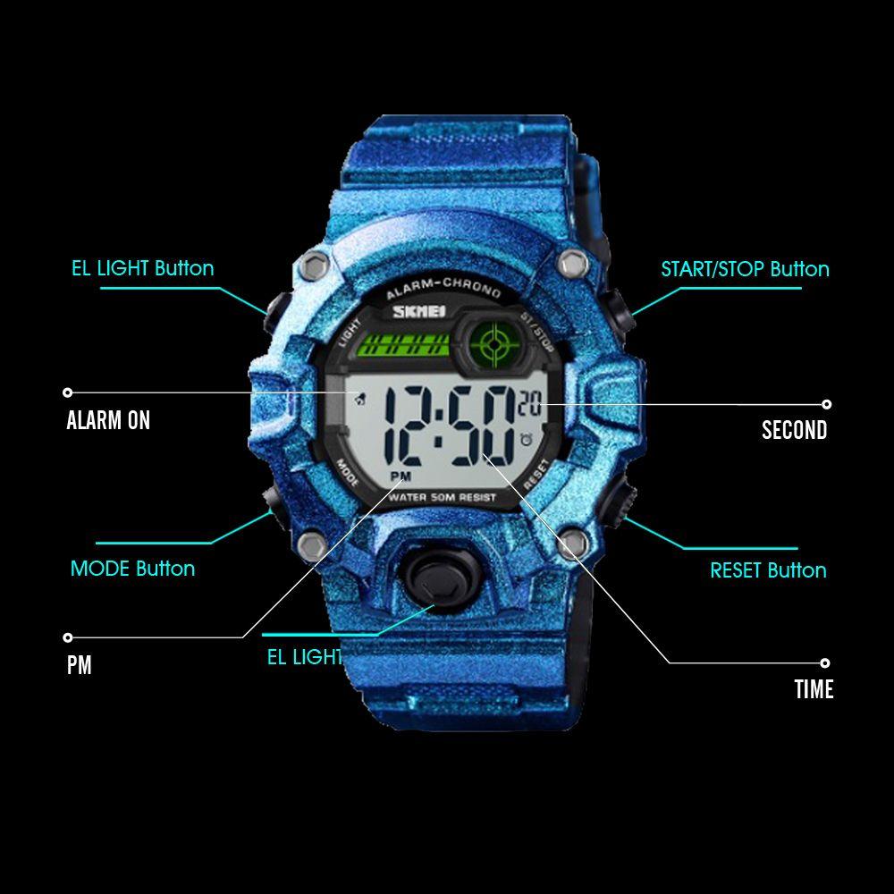 ساعت مچی دیجیتال بچگانه اسکمی مدل 1484AA -  - 3