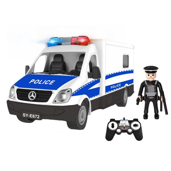 ماشین بازی کنترلی دابل ای مدل Mercedes Benz Sprinter Police Car