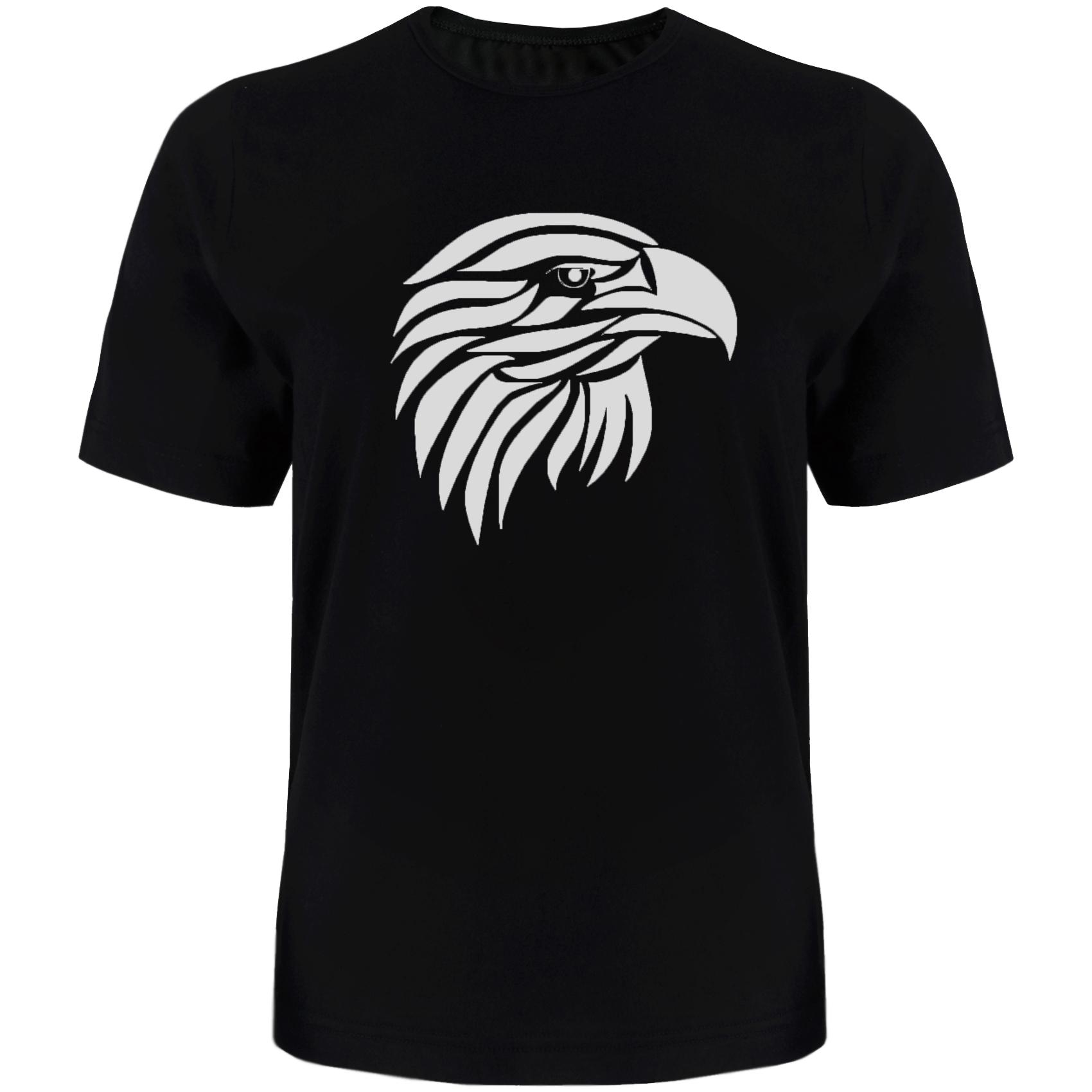 تی شرت آستین کوتاه مردانه طرح عقاب کد TR05 رنگ مشکی
