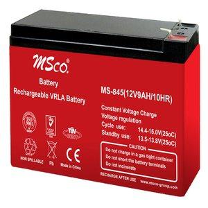 باتری یو پی اس 12 ولت 9 آمپر ساعت ام اس کو مدل MS-845