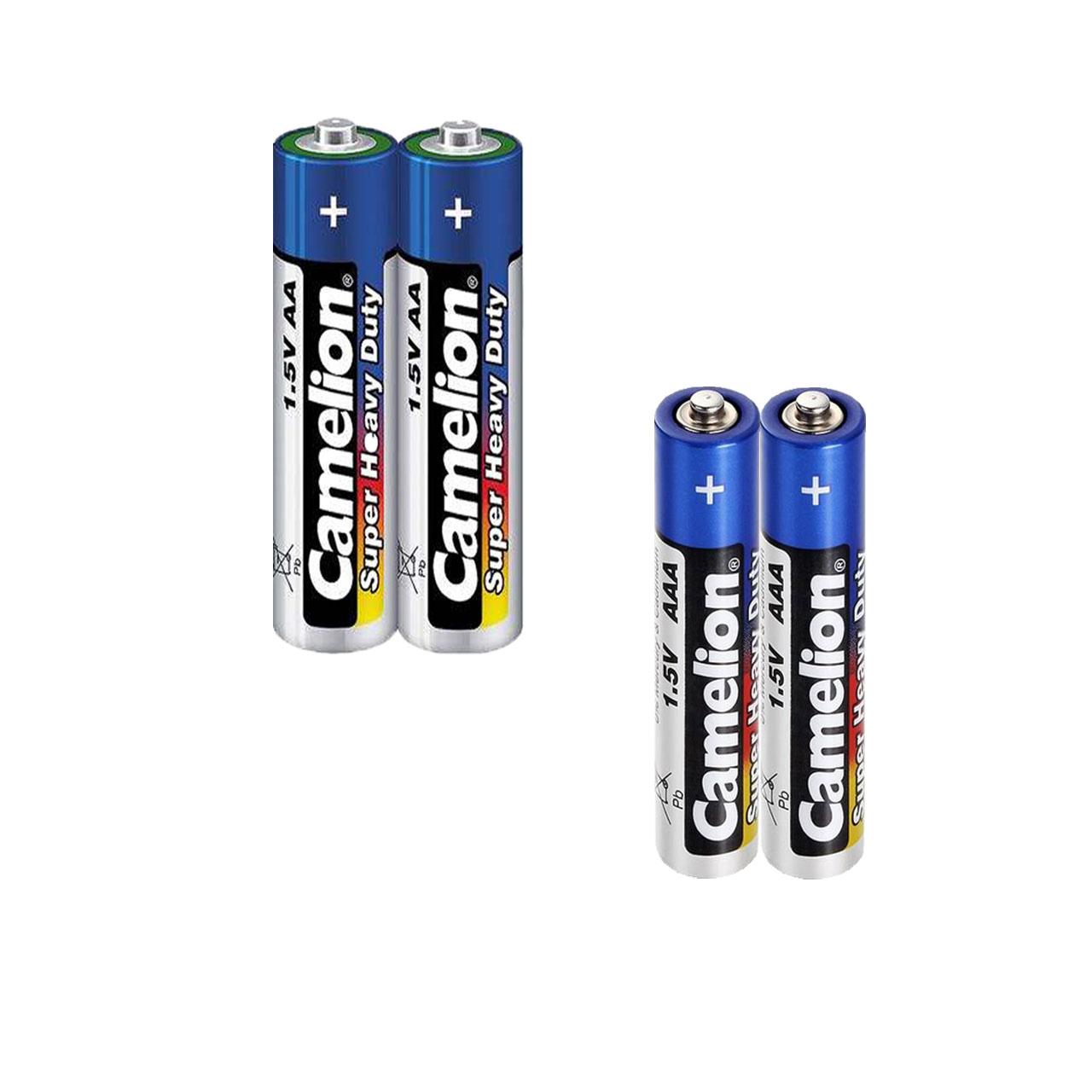 باتری قلمی و نیم قلمی کملیون مدل Super Heavy Duty کد 003 مجموعه 4 عددی