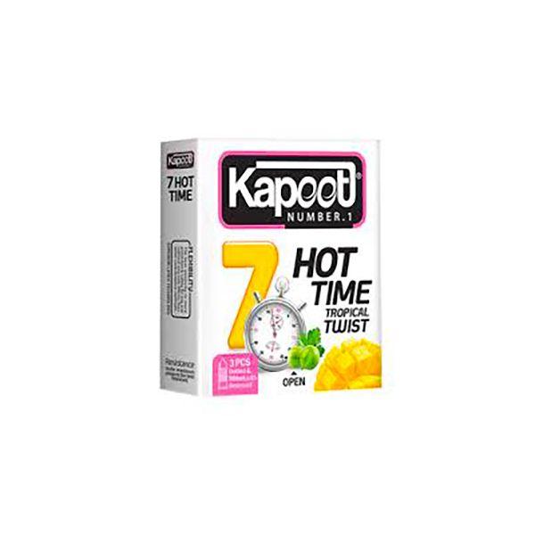 کاندوم کاپوت مدل Hot Time 7  بسته 3 عددی